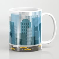 cityscape Mugs featuring Cityscape by Keith Negley