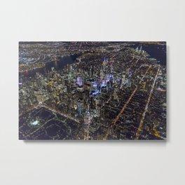 Manhattan by Night Metal Print