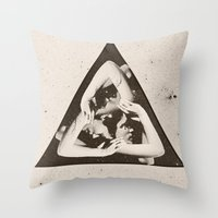triangle Throw Pillows featuring TRIANGLE by Ali GULEC