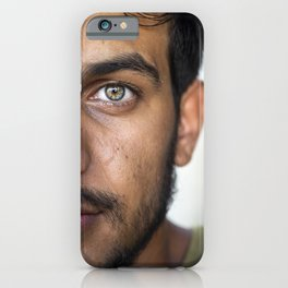 Portrait of a man with beautiful green eyes | Travel and Portrait Photography  iPhone Case