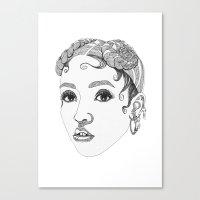 fka twigs Canvas Prints featuring FKA Twigs by LaraLindsassy