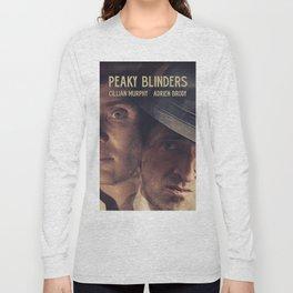 Peaky Blinders poster, Cillian Murphy is Thomas Shelby, Adrien Brody is Luca Changretta Long Sleeve T-shirt