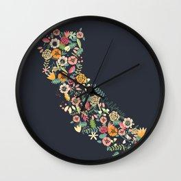 Beauty in Cali Wall Clock