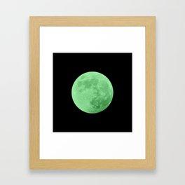 LIME MOON // BLACK SKY Framed Art Print