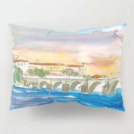 Charles Bridge And Prague Castle View with Hradcin Pillow Sham