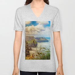 Cliffs of Moher (2) Unisex V-Neck