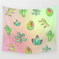 cacti Wall Tapestries featuring Cacti  by Brettisagirl