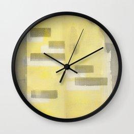 Stasis Gray & Gold 1 Wall Clock