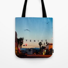 Venice Beach California Sunrise Tote Bag