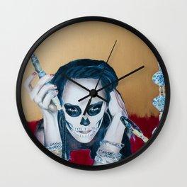 Catrina Sugar Skull, no.2 Wall Clock