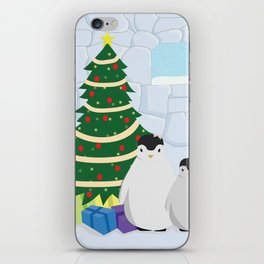 Penguins on Christmas Morning iPhone Skin