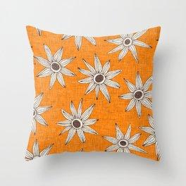 sema turmeric brown Throw Pillow