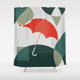 The Umbrella Shower Curtain