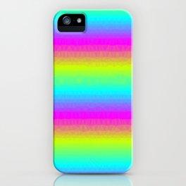 Neon Stripes iPhone Case