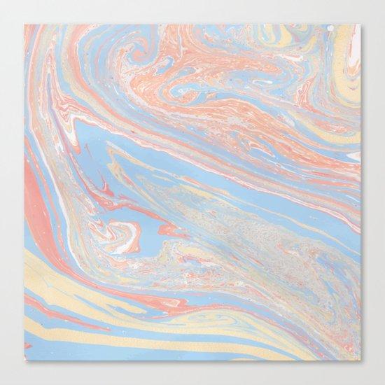 Pastel marble Canvas Print