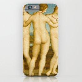 """Raffaello Sanzio da Urbino """"Three Graces"""", circa 1504-1505 iPhone Case"""