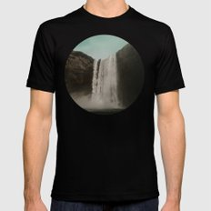 Iceland Waterfall x Skógafoss Mens Fitted Tee Black MEDIUM