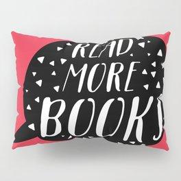 Read More Books (Speech Bubble Red) Pillow Sham