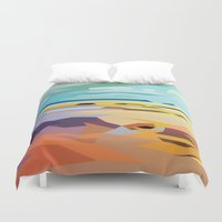rocky Duvet Covers featuring Rocky Beach by Liam Brazier