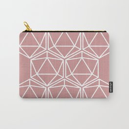 Pink Polygon Carry-All Pouch