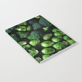 Mushroom, Sprouts, and Broccoli Notebook