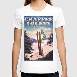 Chaffee County, Colorado, USA Vintage ski poster T-shirt