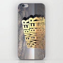 Remember November iPhone Skin