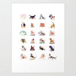 doggust collage Art Print