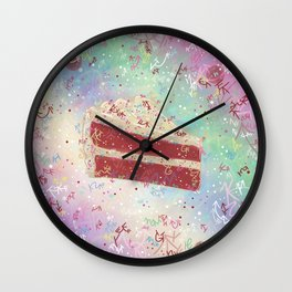 Revel in Red Velvet Cake Wall Clock