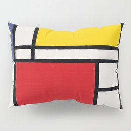 Abstract Mondrian Style Art Pillow Sham