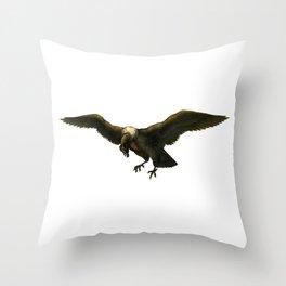 Vintage Vulture Throw Pillow