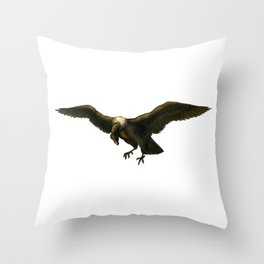 Vintage Vulture Throw Pillow