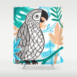 Parrot in the Jungle Shower Curtain