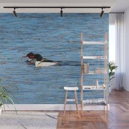Pair of Goldeneye Ducks Wall Mural