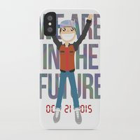 marty mcfly iPhone & iPod Cases featuring Marty McFly in the Future by Sebast Hoyos
