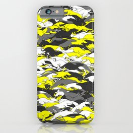 Whippet camouflage iPhone Case