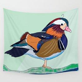 Mandarin Duck Wall Tapestry