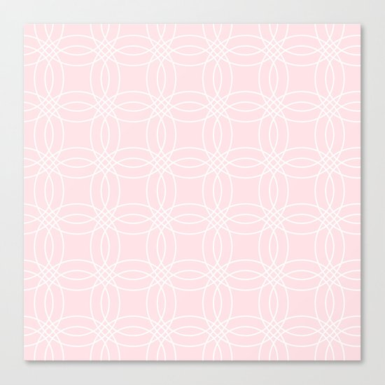 Simply Vintage Link White on Pink Flamingo Canvas Print