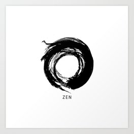 Zen Enso Circle Art Print