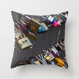 french locks Throw Pillow
