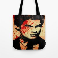 dexter Tote Bags featuring Dexter by 2b2dornot2b