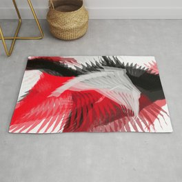 flying abstract digital painting Rug