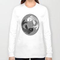 yin yang Long Sleeve T-shirts featuring Yin &Yang by ZE-DESIGN
