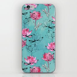 Waterlily dragonfly iPhone Skin