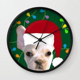 French Bulldog Santa Wall Clock