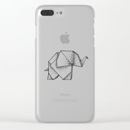 Origami Elephant Clear iPhone Case