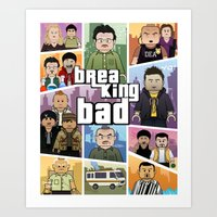 gta Art Prints featuring Lego Gta Mashup Breaking Bad by Akyanyme