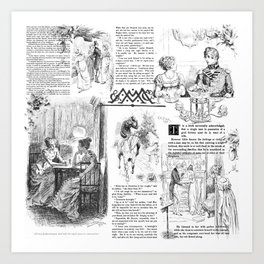 Pride and Prejudice - Pages Art Print
