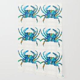 Blue Crab Art by Sharon Cummings Wallpaper