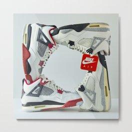 Jordan sneaker 6 Metal Print